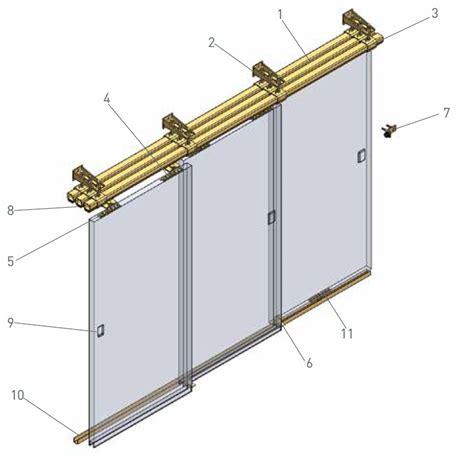 closet door track system niko b industrial sliding door track