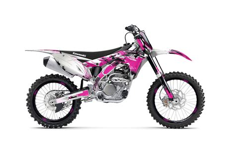 pink motocross bike kawasaki kx250f dirt bike graphics carbon x pink mx