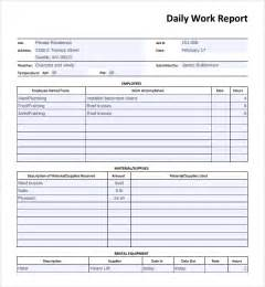Employee Report Template sample daily work report template 7 free documents in pdf