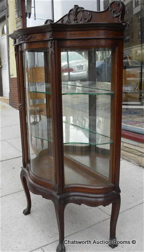 Antique Curio Cabinets For Sale by Rj Horner Quartered Oak Diminutive Curio Cabinet For