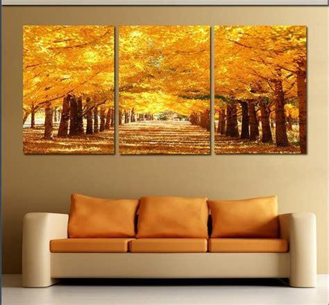 framed  panel large golden avenue landscape wall art