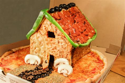 Pizza House gingerbread behold the pizza house huffpost