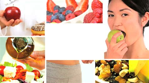 modern lifestyle montage collection of fresh healthy eating options for a