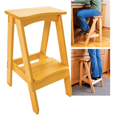 Kitchen stool this stool s seat is the perfect height for sitting at a