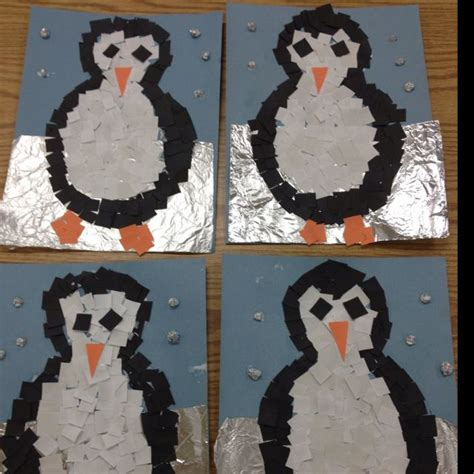 penguin arts and crafts projects mosaic penguins project penguin craft ideas