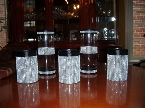 Bling Wrap For Vases by Black Ribbon And Wrap Vases 1st Diy Project For Engagement Weddingbee