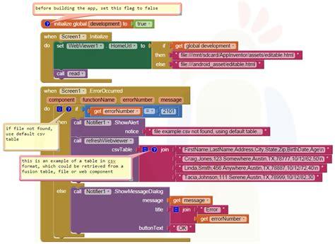 layout en app inventor app inventor tutorials and exles editable dynamic