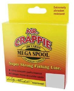 crappie monofilament fishing  lb clear yds