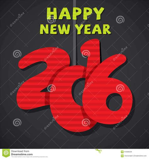 creative new year greeting cards creative new year 2016 greeting design stock vector