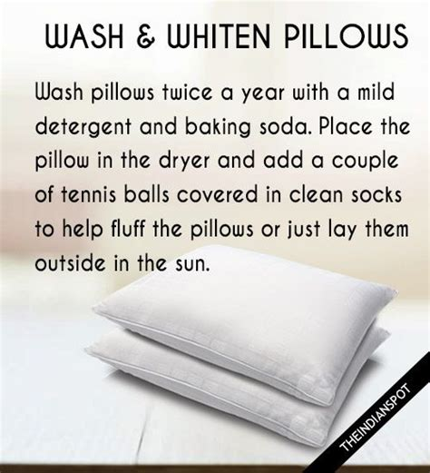 Best Way To Clean Pillows by 25 Best Ideas About Whiten Pillows On Wash
