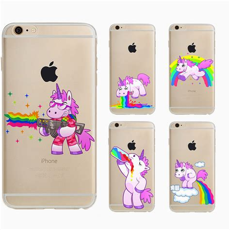 Casing Iphone 7 Back Soft Side Hippo With Bird aliexpress buy hippo rainbow unicorn back cover for apple iphone 5 5s se 6 6s plus