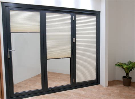 blinds for doors uk blinds for external bifold doors 187 vufold