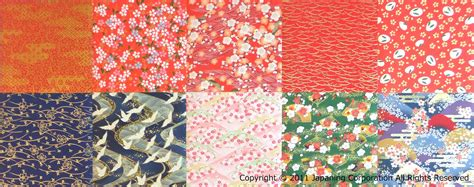 Traditional Origami Paper - set of 10 assorted kimono design origami papers koiki