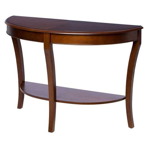 newman demilune sofa table half sofa table by i living walnut finish
