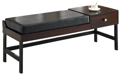 48 inch storage bench monarch specialties 48 inch upholstered bench