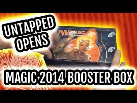 Mtg Booster Box Giveaway - magic 2014 m14 booster box unboxing chandra pyroma doovi