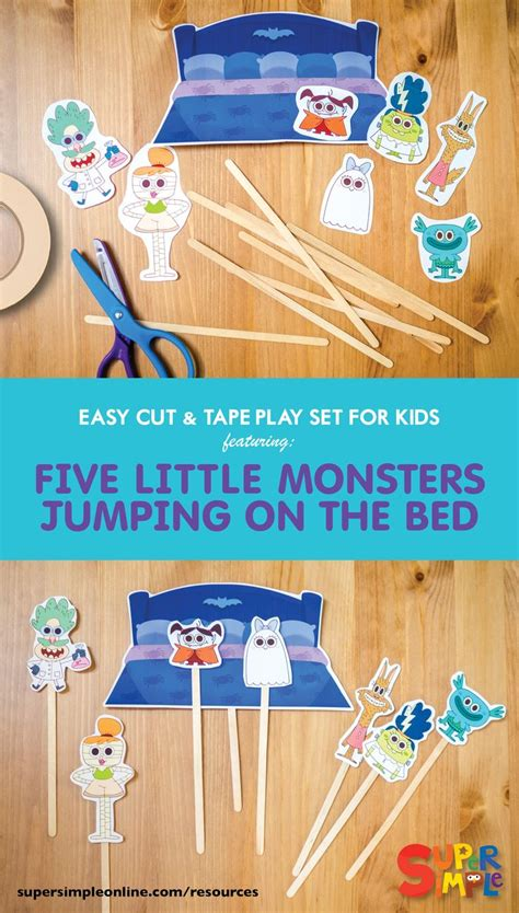 five little monsters jumping on the bed 333 best halloween for kids images on pinterest