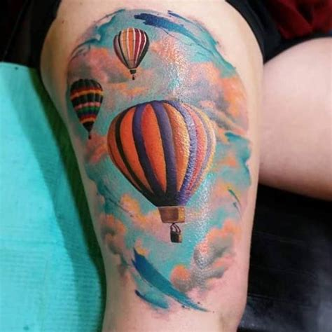 tattoo of hot air balloon 48 incredible hot air balloon tattoo designs tattooblend
