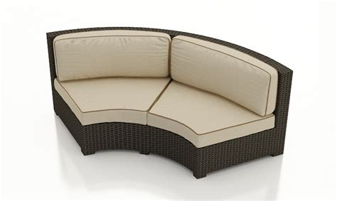 forever patio hton wicker curved sofa wicker