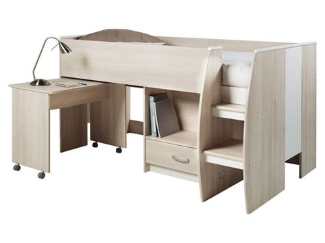 lit compact lit compact 90x190 cm enzo coloris acacia conforama