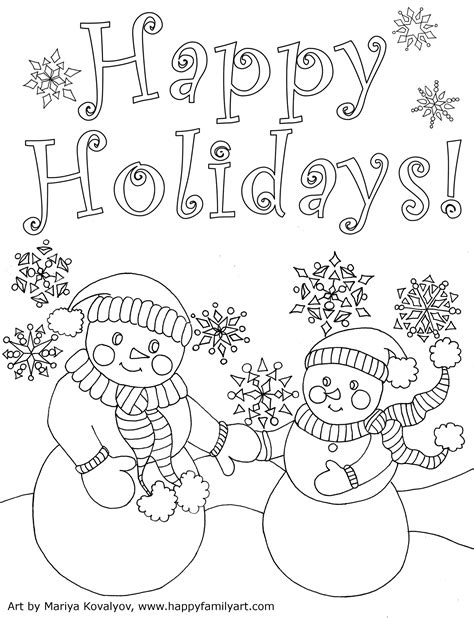 coloring pa happy holidays coloring page coloring page pedia