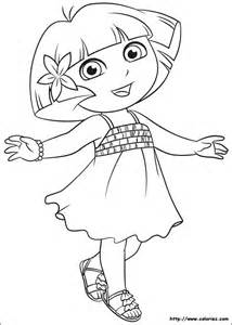coloriage dora tenue 233 233