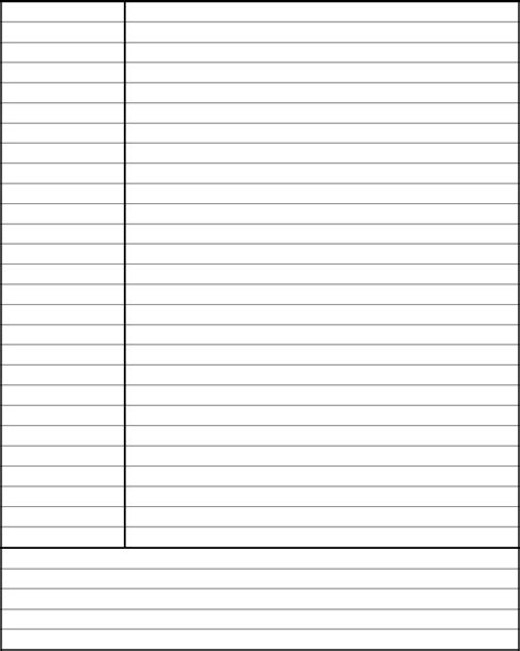 cornell notes template pdf cornell notes template avid edit fill sign