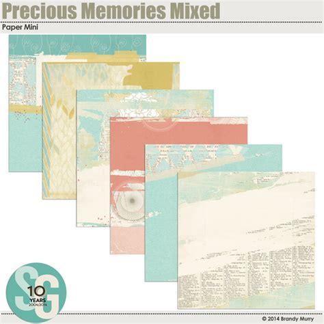 Memories Paper - precious memories mixed paper mini