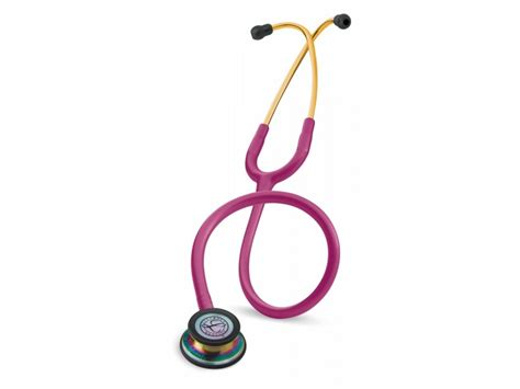 Stethoscope Littmann Classic Iii Dewasa Raspberry Rainbow littmann classic iii stethoscope raspberry rainbow 5806 with laser engraving and carry