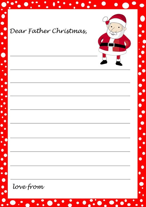 printable santa list paper father christmas letter template printable free svoboda2 com