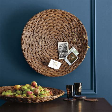 decorative basket wall decorating home with ethnic wicket dishes and bowls