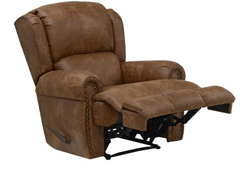 recliner com catnapper dempsey bonded leather deluxe lay flat recliner