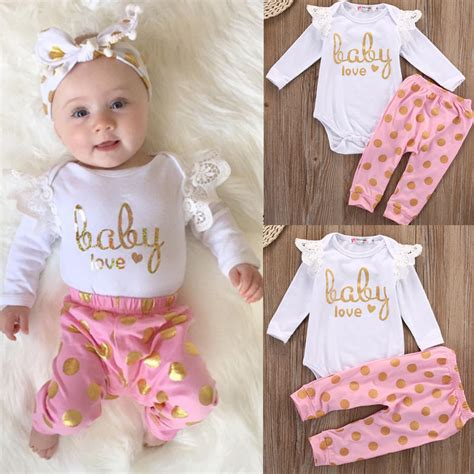 Ayako Fashion Bebe Ay 3 Warna ᗗtoddler infant newborn ᐂ baby baby clothes set romper sleeve cotton