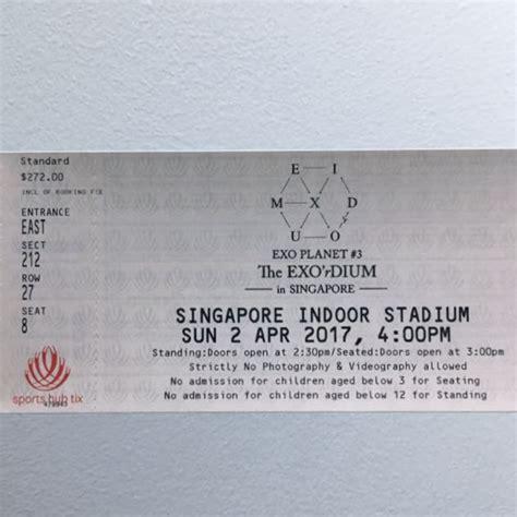 exo concert ticket singapore entertainment
