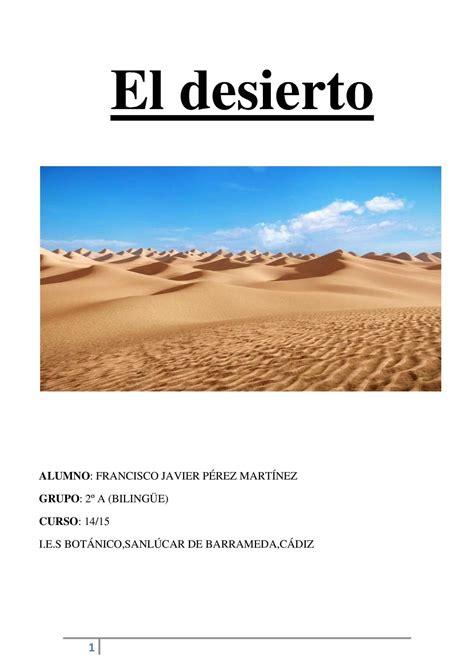 el desierto de los 8420669865 calam 233 o el desierto francisco javier