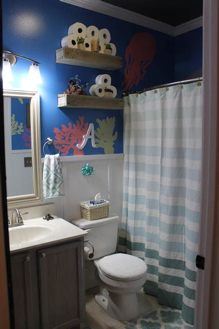 sea bathroom ideas diy under the sea themed kid s bathroom hometalk