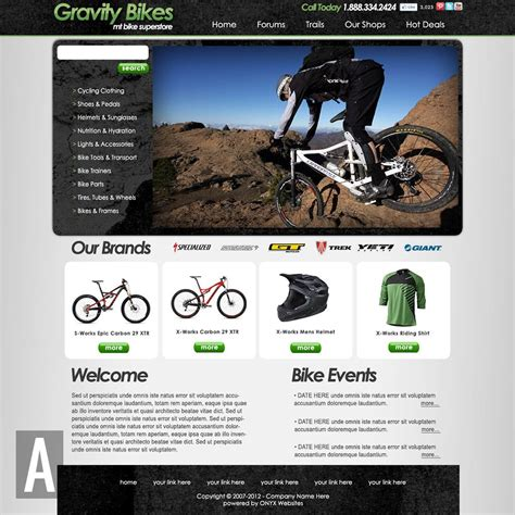 Bike Shop Website Templates Bike Shop Website Template