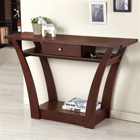 dark wood console table with drawers narrow console table with storage advantages