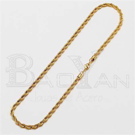 cadena regina dorada joyas de acero inoxidable para hombre cadena color dorado