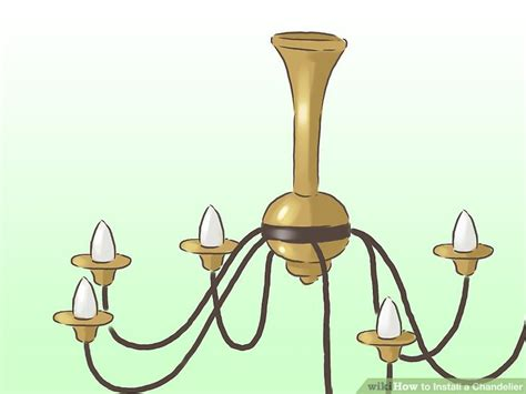 How To Remove Chandelier How To Install A Chandelier With Pictures Wikihow