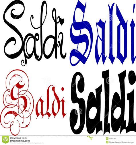 Decorative Writing by Italian Saldi Sign Stock Vector Image 50659290