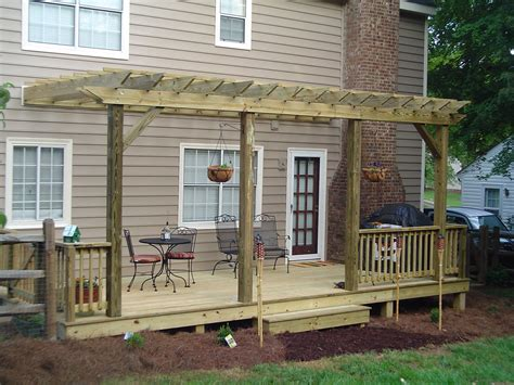 Awesome Deck Pergola With Simple Ideas Decks With Pergolas