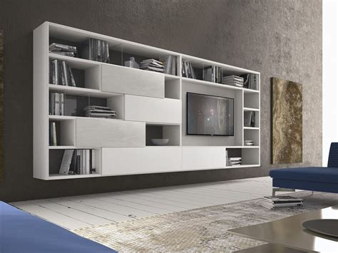 presotto industrie mobili parete attrezzata componibile fissata a muro in legno pari