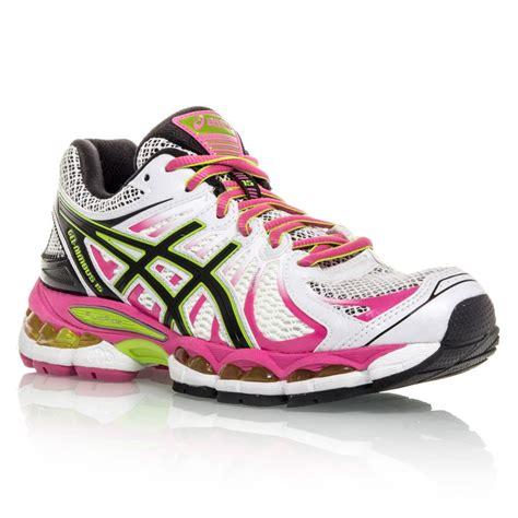asics gel nimbus 15 womens running shoes white pink
