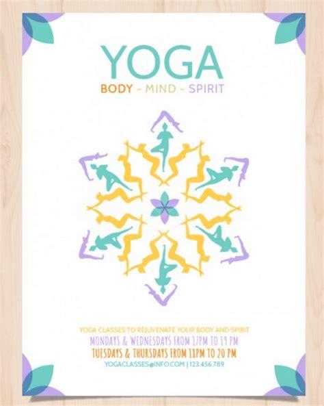 templates for yoga 90 yoga classes flyer flyer design for barefoot