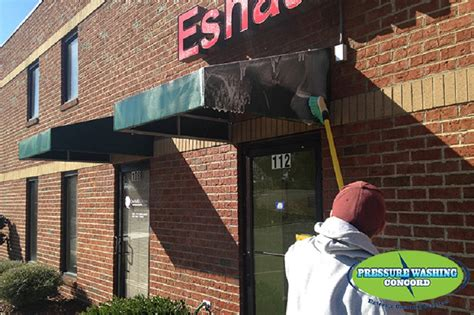 awning cleaning service commercial power washing concord power washing services nc