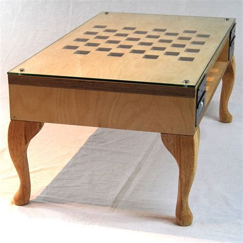 Chess Coffee Table Cut Out Chess Coffee Table By Tilt Originals Notonthehighstreet