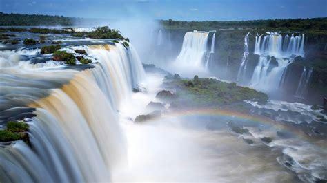 wallpaper iguazu falls waterfalls argentina  nature