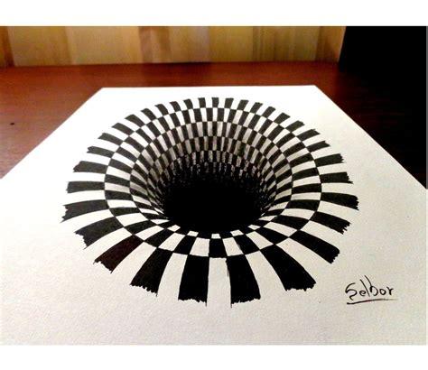 ilusiones opticas hechas a mano como dibujar una ilusi 243 n 243 ptica paso a paso selbor youtube