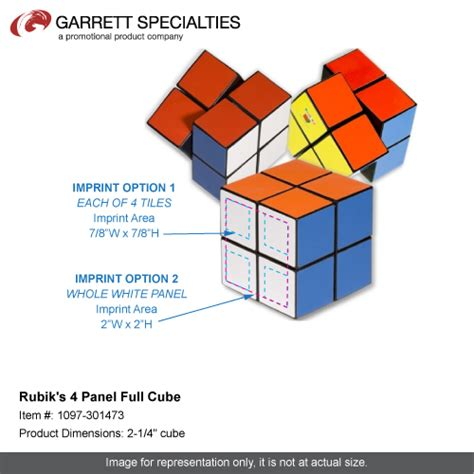 rubiks 4 panel cube promotional rubiks 4 panel cube trade show items 5 26 ea